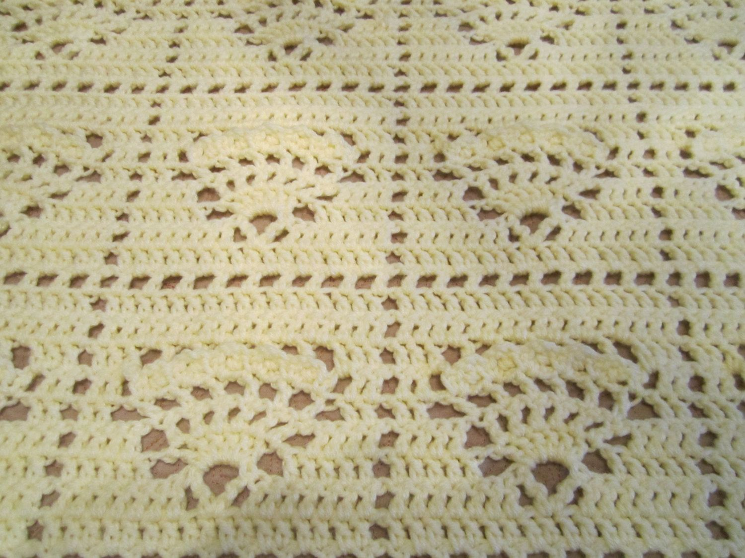 Crocheted Afghan - Cream Colored by PDRCreations on Etsy | Crocheted ...