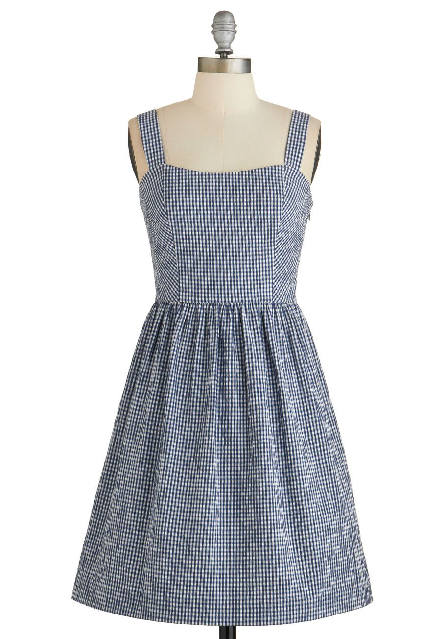 Canoe Imagine That? Dress. Its simple and fun to picture yourself rowing across a pond in this adorable A-line tank dress!  #modcloth