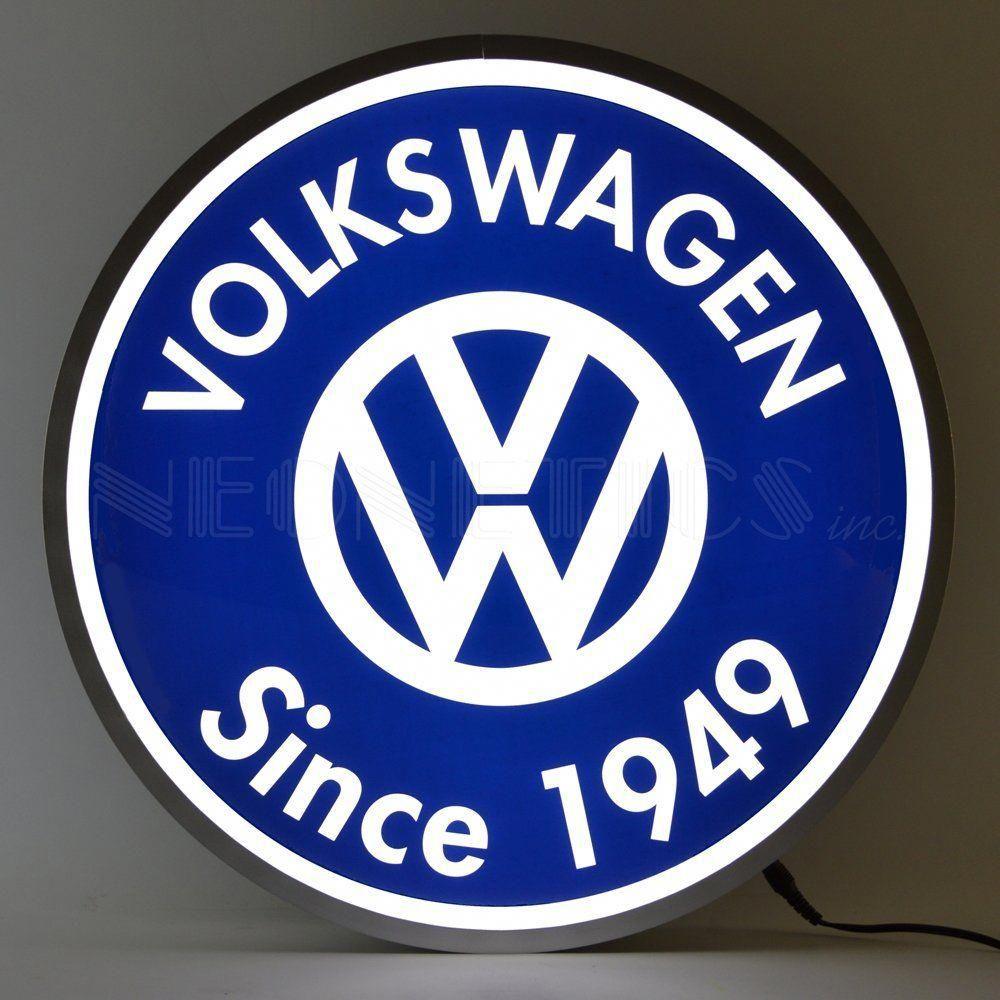 Volkswagen Since 1949 Backlit LED Lighted Sign