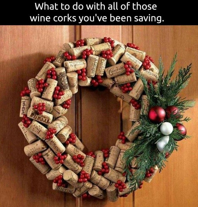 60 of the best christmas decorating ideas | wine cork wreath, cork