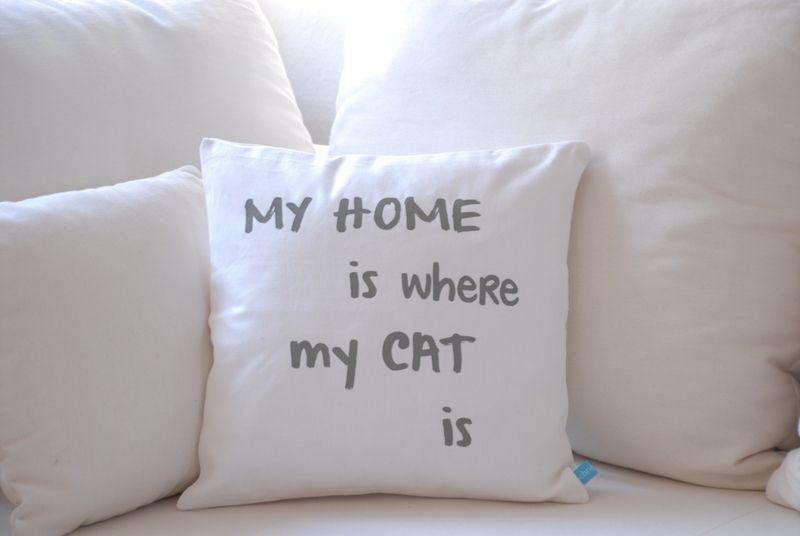My HOME is where my CAT is    Für Katzenliebhaber, die ohne das unvergleichliche Schnurren, sich einfach nicht wohlfühlen!