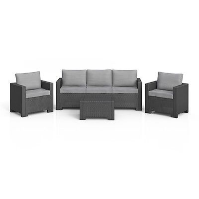 BICA Colorado Lounge Set Polyrattan Gartenmöbel Rattanoptik - gartenmobel rattan lounge set