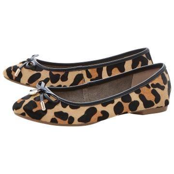 Buy Dune Malmo Flat Bow Detail Ballerina Pumps, Leopard Pony | John Lewis 59