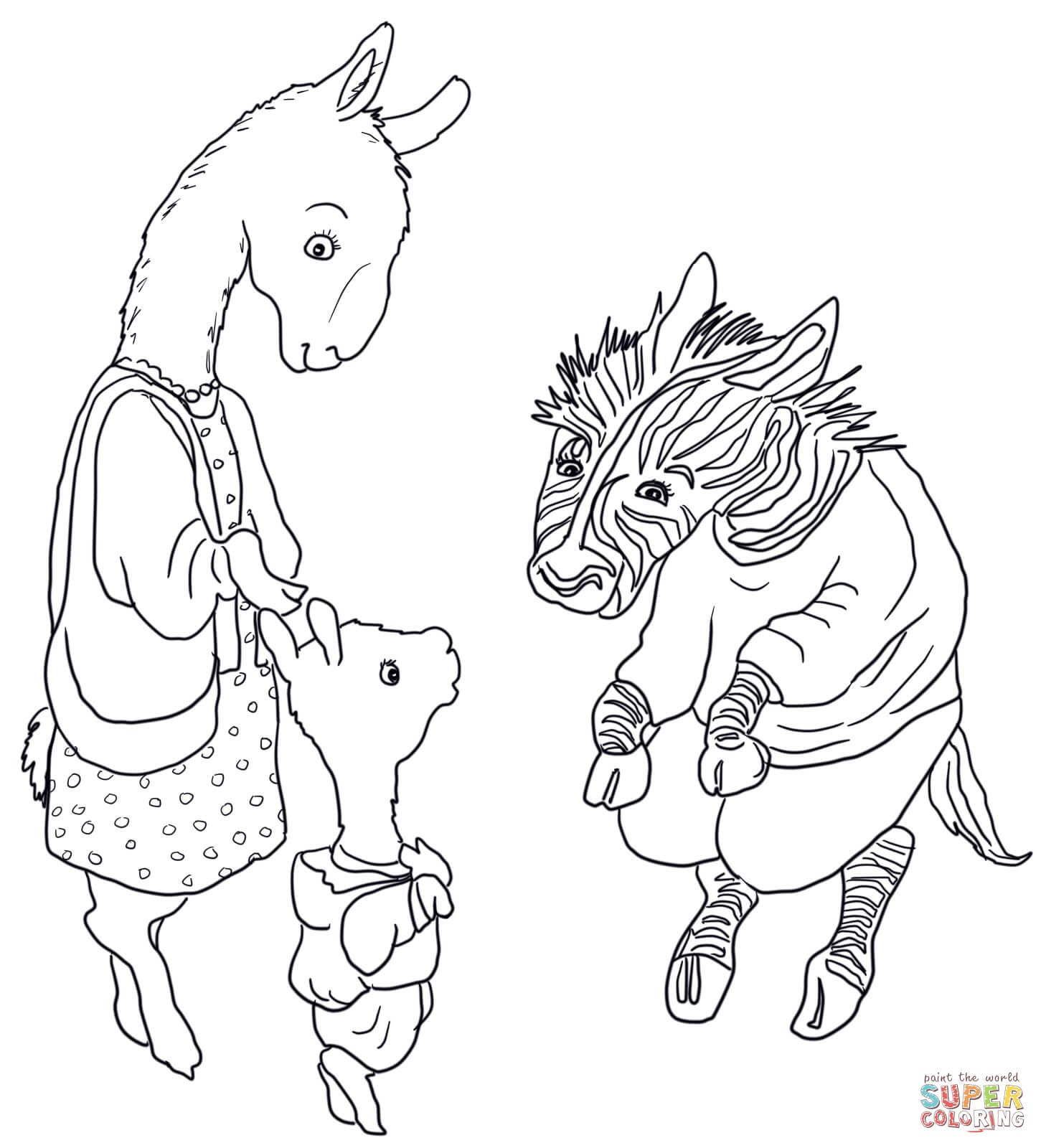 adult Llama Llama Red Pajama Coloring Page Printable Pages