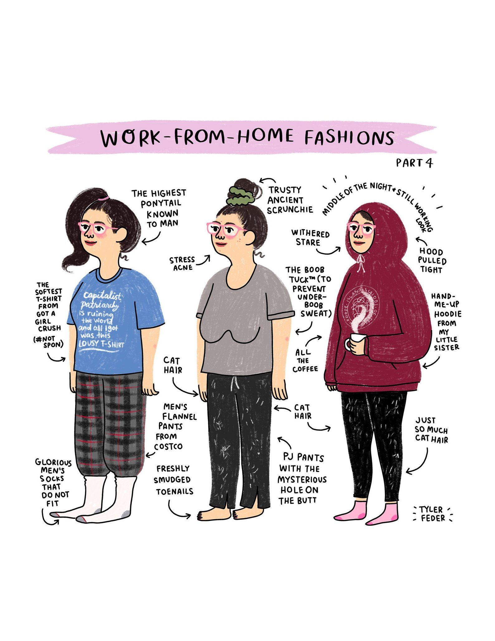 Work From Home Fashions Part 4 Print – Hand-Illustrated