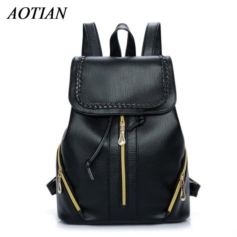 New Travel Backpack Korean Women Backpack Leisure Student Schoolbag Soft PU  Leather Women Bag Dec17 67ed356e22f71