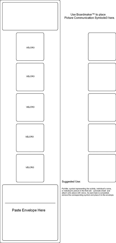 Visual sched templates | autism | Visual schedule autism ...