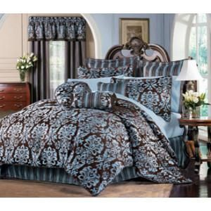 Blue And Brown Bedroom Set blue brown bedding | bed in bag blue brown king comforter sheets