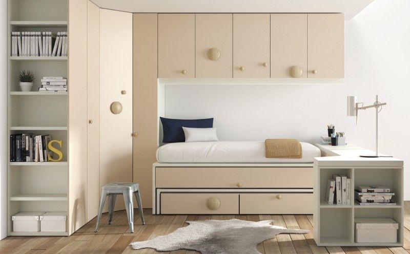 Dormitorio infantil de la marca lagrama con dos camas for La valenziana muebles infantiles y juveniles