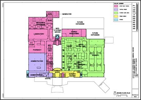 Second floor hospital pinterest how to plan emergency department and floor plans for Emergency room design floor plan