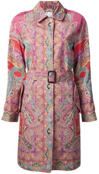 7959291891327b Women's Paisley Trench Coat | GYPSET STYLE COATS | Embroidered ...