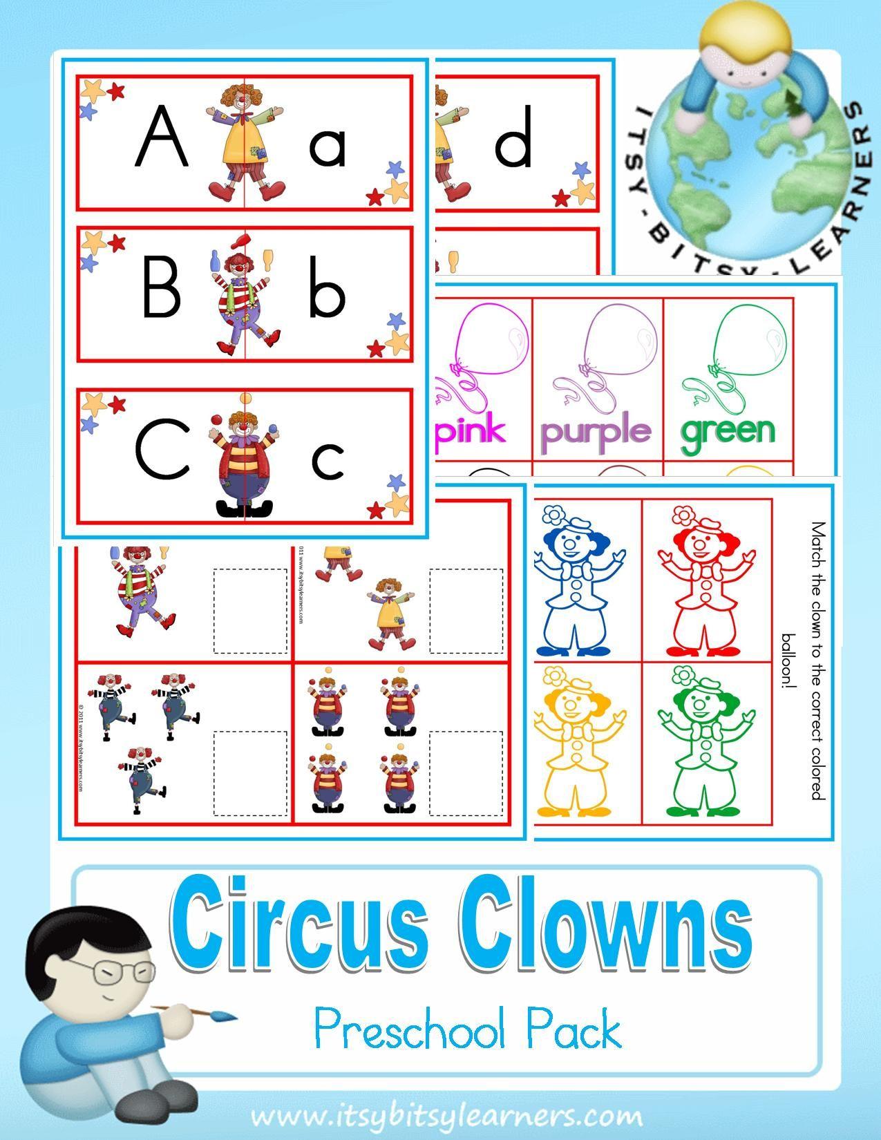 Circus Clowns Preschool Pack 3 19 Zen Cart The Art Of E Commerce Preschool Themes Circus Theme Preschool Preschool Fun [ 1650 x 1275 Pixel ]