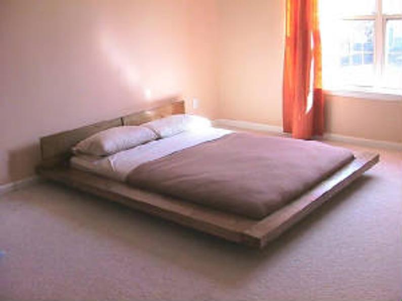 Walnut King Platform Bed The Original Nok Japanese Floating Platform Bed I Designed In 1998 In 2021 Platform Bed Designs Floating Platform Bed Wooden Platform Bed