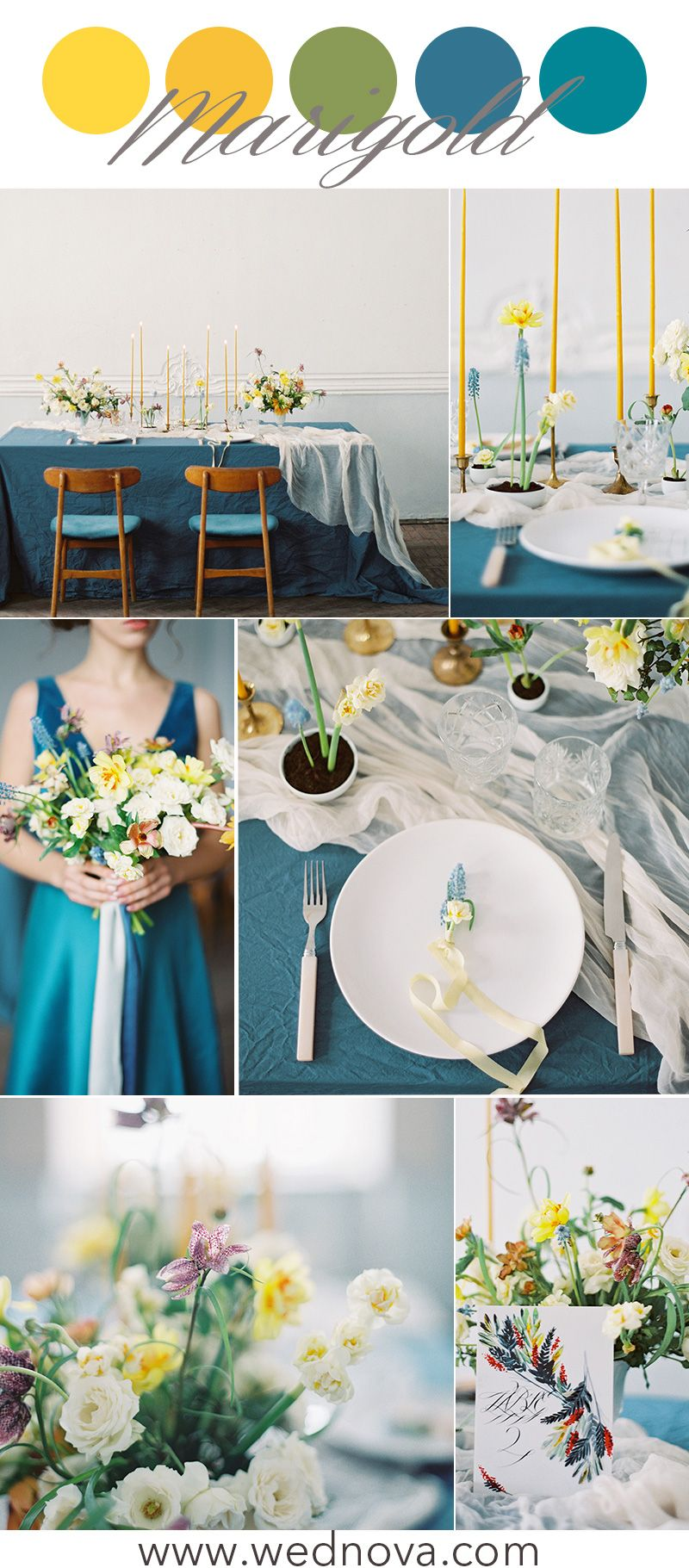 12 Perfect Yellow Wedding Color Palettes for Spring