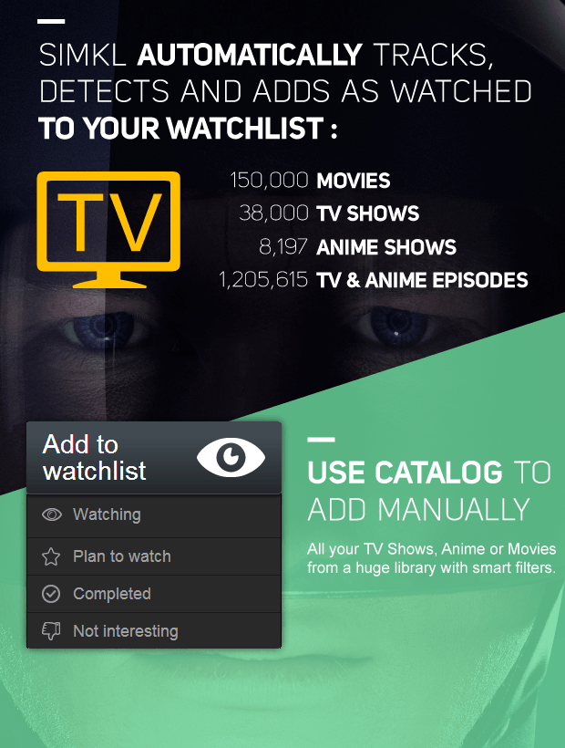 TV Tracker Auto Mark as watched your TV, Anime + Movies