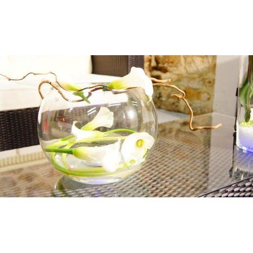 Vase lumineux BUBBLE à Leds - Idée cadeau pour la fête des mères #fete #fête #mère #motherday #idée #cadeau #vase #fleur #design #led #transparent #lumineux