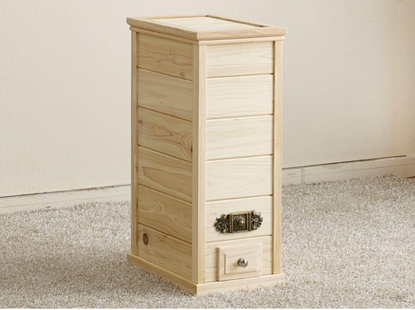 Chefu0027s Wooden Rice Container 44lb Dispenser Dry Food Storage Box Kitchen  Decor