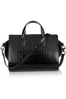 ALEXANDER WANG  Pelican croc-effect leather and neoprene tote