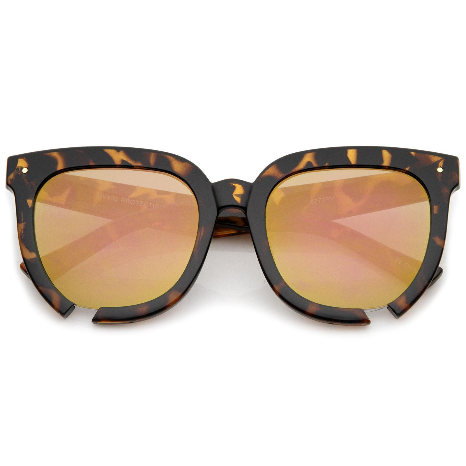 5a3b8bd1c23b6 Oversize Notch Detail Square Colored Mirror Flat Lens Horn Rimmed Sunglasses  54mm  frame  sunglass  bold  sunglasses  sunglassla  oversized  mirrored ...