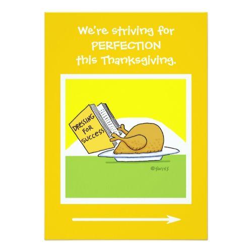 funny thanksgiving banquet cartoon invitation card popular