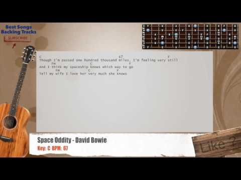 Space Oddity - David Bowie LEAD Guitar Backing Track with chords and ...