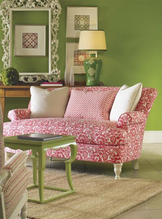 This New Bedford Sofa looks great in pink. #GreenbaumInteriors ...