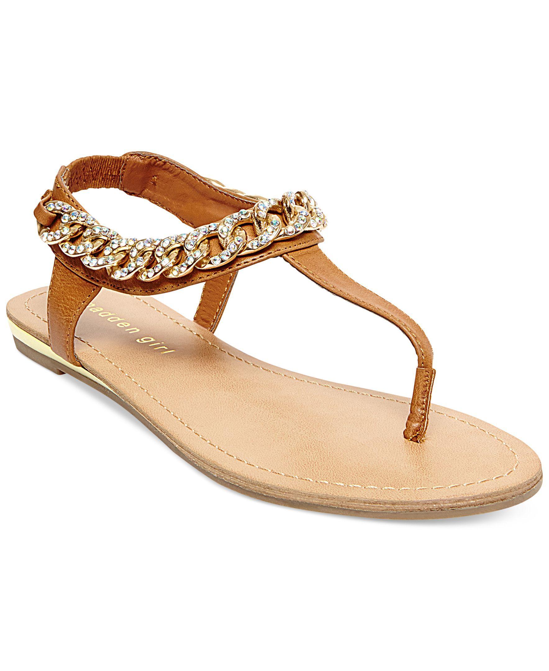 9d873de46 Madden Girl Classic T-Strap Chain Flat Thong Sandals