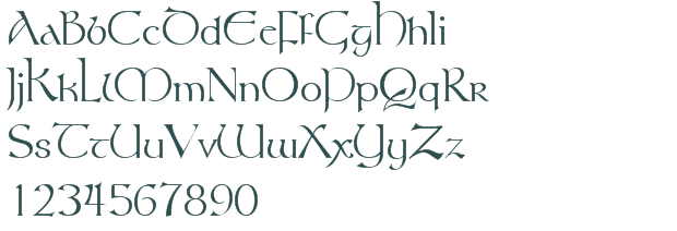 """Hobbit font. The website is in french, """"telecharger"""" means."""
