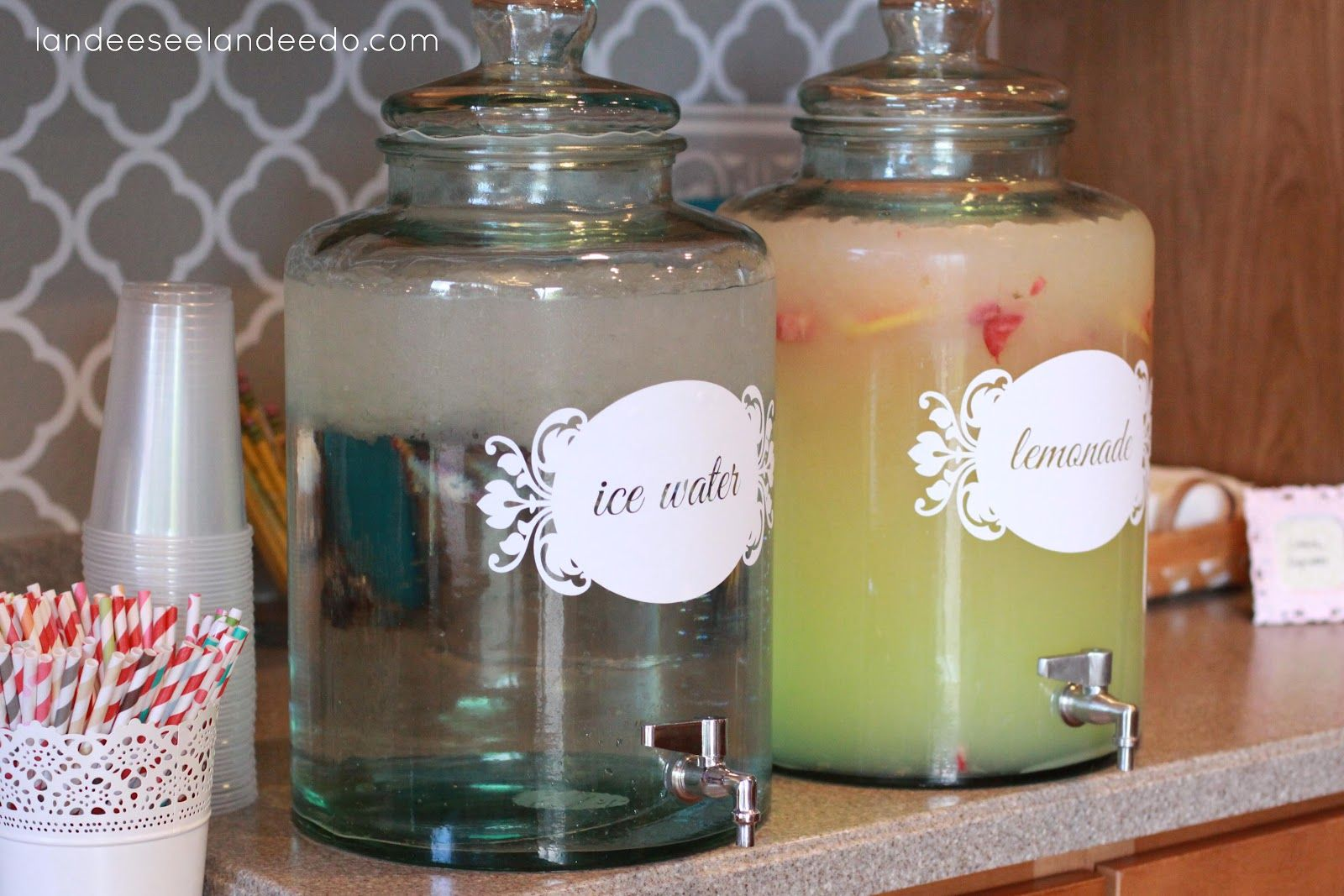 Wedding Shower Decorations Vinyl For The Drink Dispensers