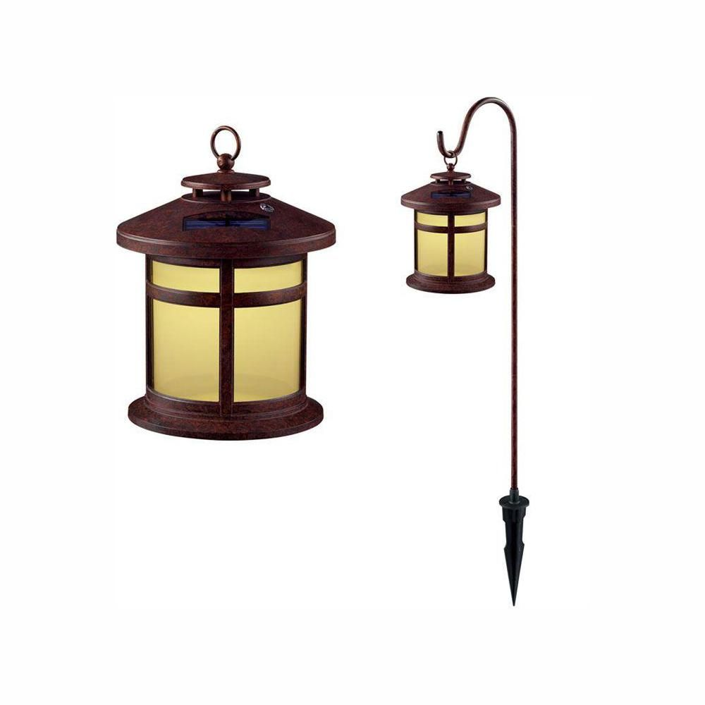 Hampton Bay Reviere Rustic Bronze Outdoor Solar Led Light 6 Pack Solar Led Lights Solar Led Outdoor Solar Lights