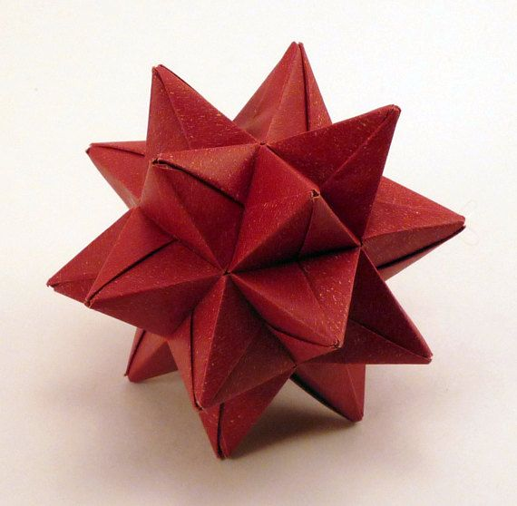 Red Origami Star, Christmas Ornament, Red Star Ornament, Red Christmas  Star, Origami Ornament - Red Origami Star, Christmas Ornament, Red Star Ornament, Red