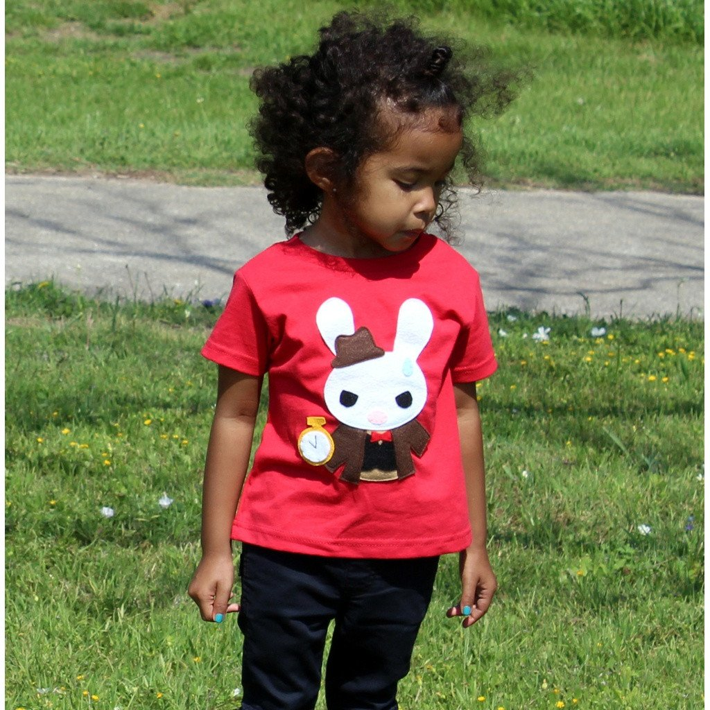 The White Rabbit - Alice's Adventure in Wonderland - Kids T-shirt