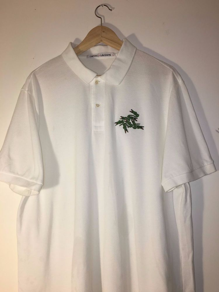 Rare CAMPANAS X LACOSTE Limited Edition Polo Shirt-Men s Size XL   eBay 29437c8205
