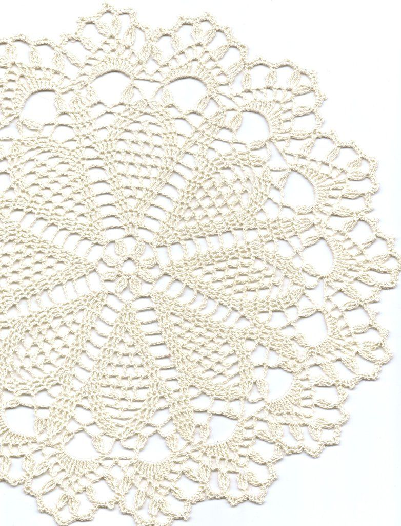 Crochet doilies, lace doily, table decoration, crocheted place mat ...