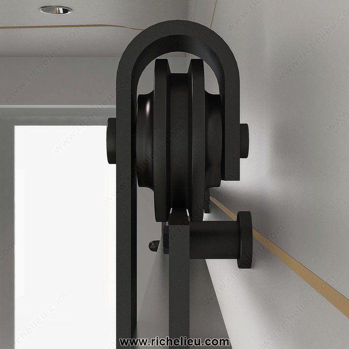 Ensemble pour une porte en bois avec quincaillerie - Rail pour porte de garage coulissante ...