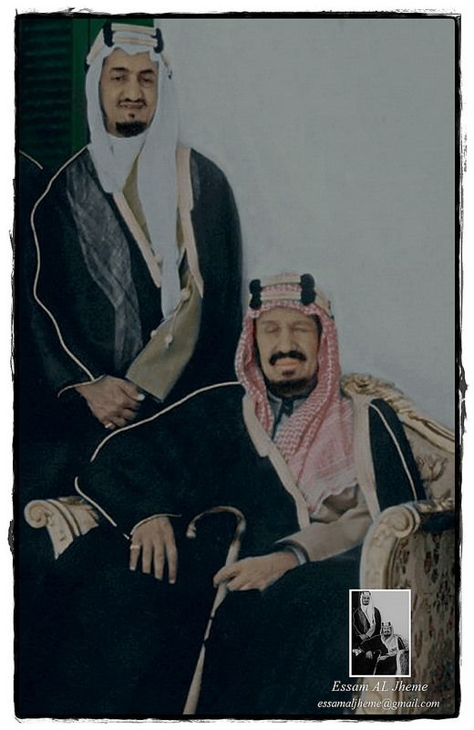 الملك عبدالعزيز آل سعود والملك فيصل بن عبدالعزيز آل سعود Saudi Arabia Culture National Day Saudi Handsome Arab Men