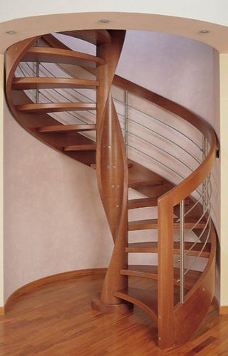 Best Spiral Staircase With A Lateral Stringer Wooden Frame And 400 x 300