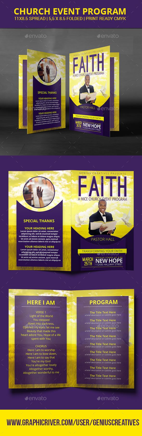 Faith Church Program Or Brochure  Faith Church Brochures And
