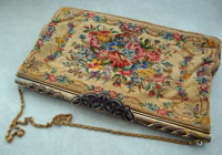 Floral Petit Point Purse
