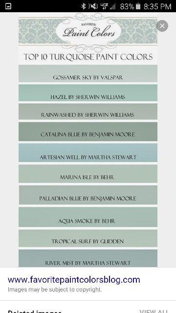 Turquoise paint colors