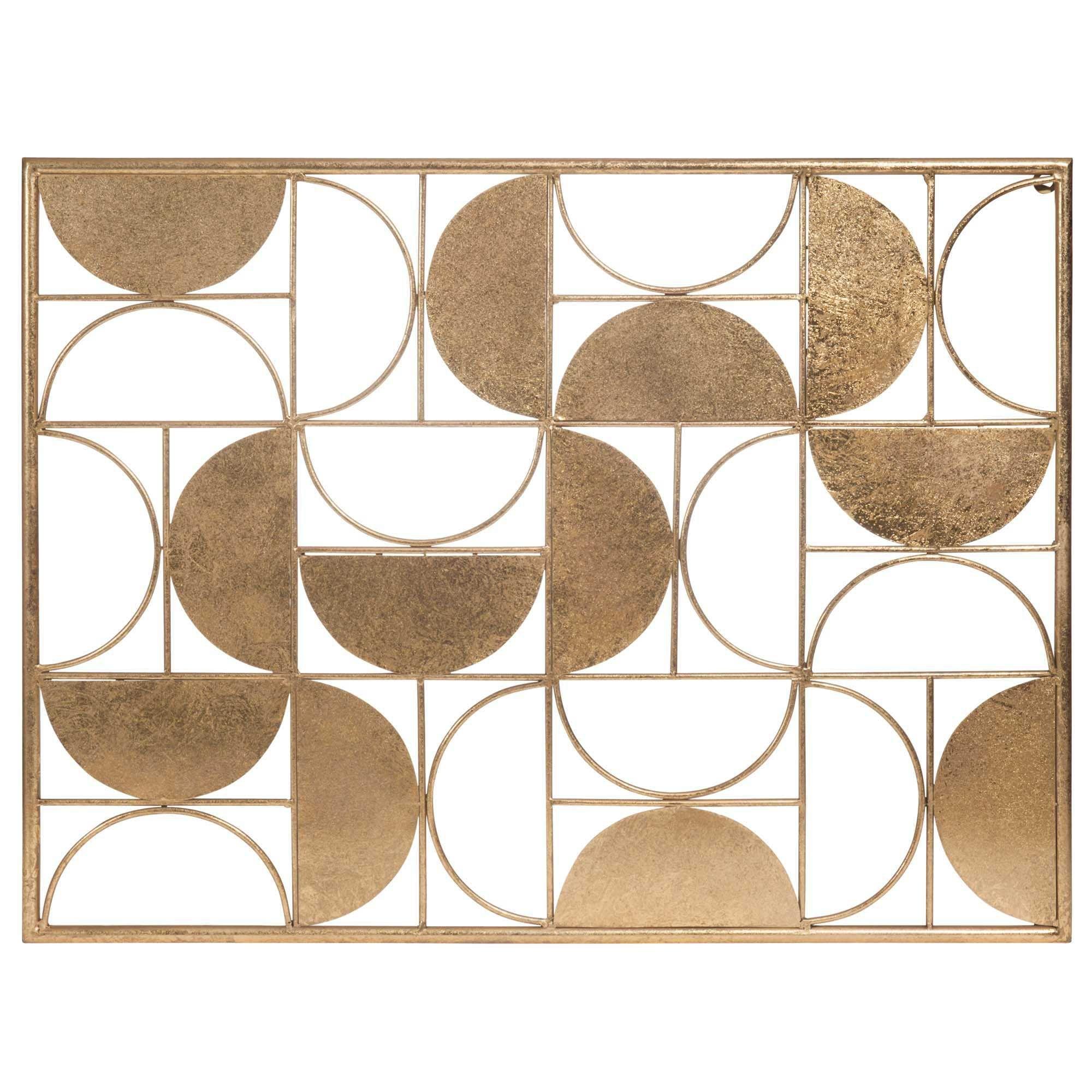 Metalen wanddecoratie 60 x 80 cm HALF MOON
