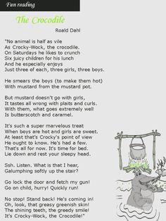 Crocodile Poems Roald Dahl Google Search