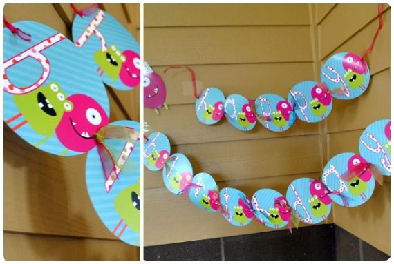 Love these monster banners. #MonsterParty #Monster #KidsParties #Banners