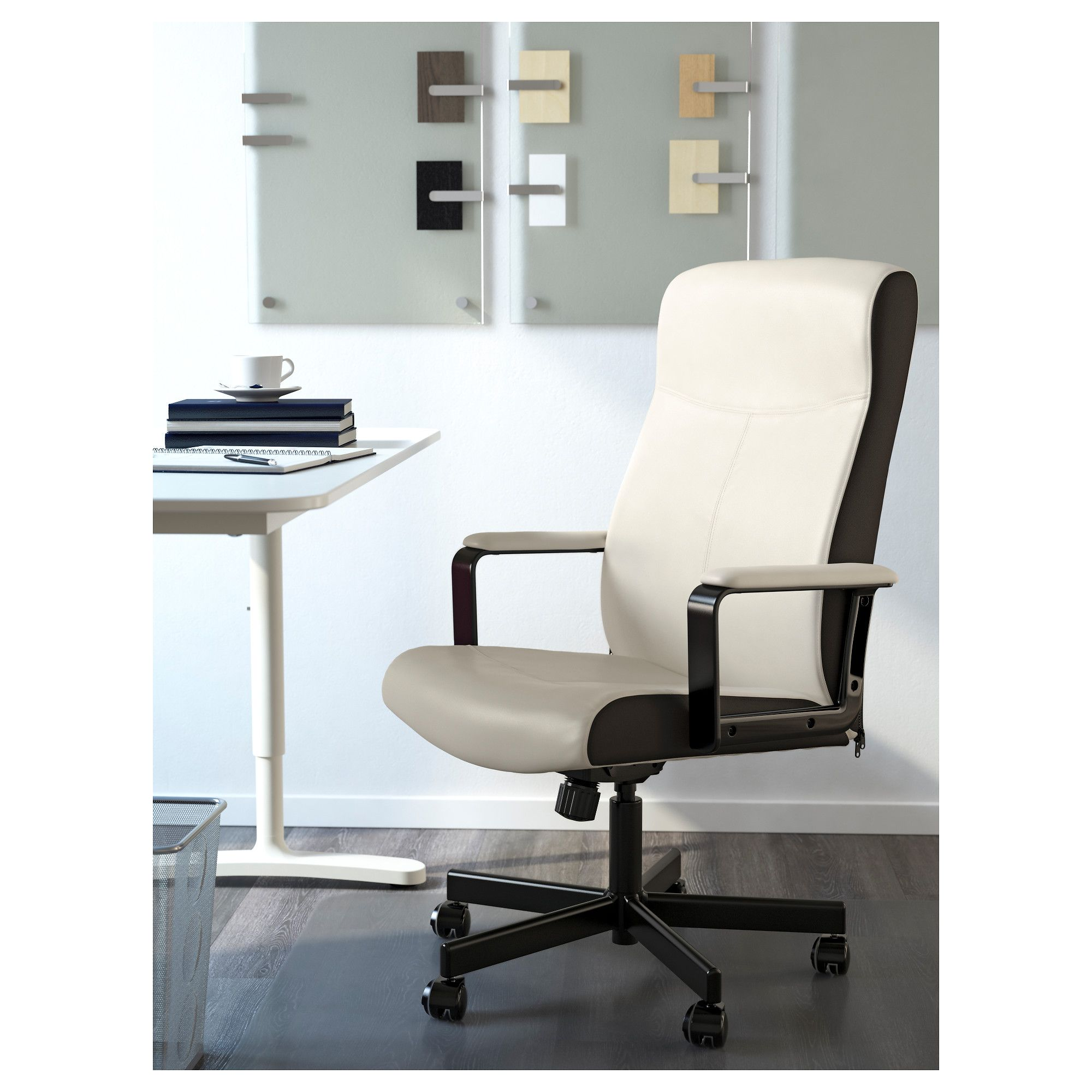 swivel chair office warehouse tub accent ikea millberget kimstad white products pinterest
