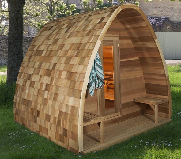 Sauna Pod Red Cedar Shingels Als Dakbedekking