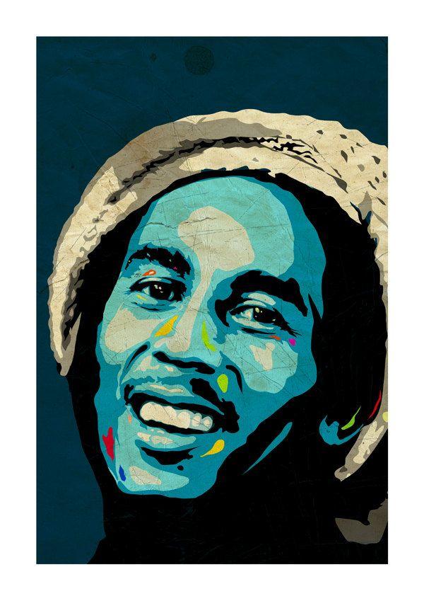 Bob Marley Art Print A3 Portrait By Ciaranmonaghan The Late