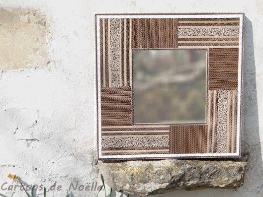 Miroirs Dentelle Cadre En Carton Artisanat En Carton Et Carton Ondule