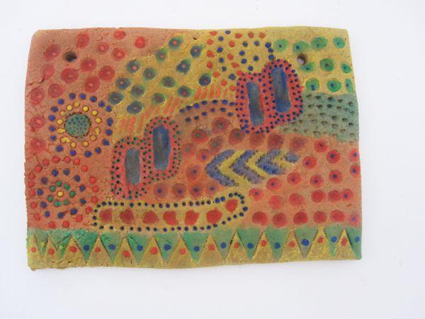 Try Aboriginal Clay Printing Kids Activity Craft