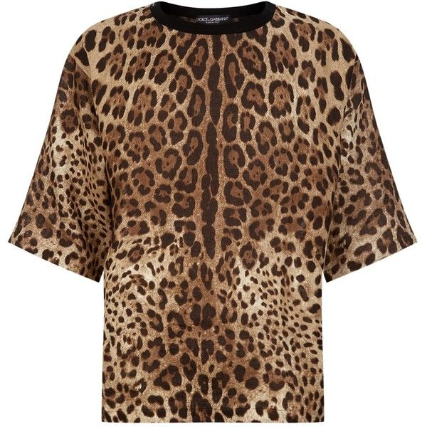 96f86231 Dolce & Gabbana Leopard Print Oversized T-Shirt ($575) ❤ liked on Polyvore  featuring men's fashion, men's clothing, men's shirts, men's t-shirts, dolce  ...