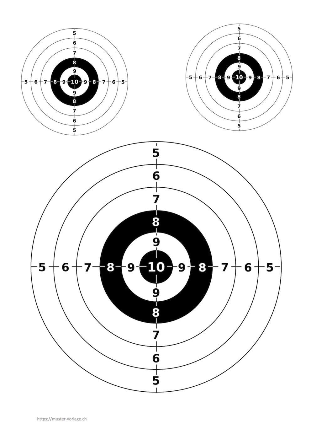 Vorlage Zielscheiben Zum Ausdrucken Zielscheibe Ausdrucken Scheibe